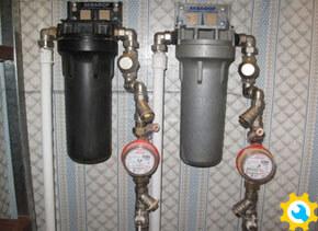 Установка счетчиков и фильтров грубой очистки